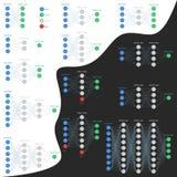 Grupo de redes neurais no fundo isolado Imagem de Stock