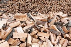 Grupo de registros de madeira Imagens de Stock