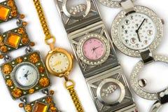 Grupo de relógios da mulher Fotos de Stock Royalty Free