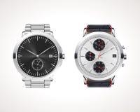 Grupo de relógios de homens clássicos e modernos ilustração royalty free