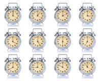 Grupo de reloj de alarma Foto de archivo