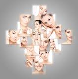 Grupo de retratos dos termas de mulheres despidas novas Imagens de Stock Royalty Free