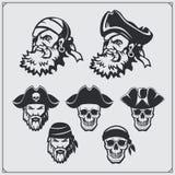Grupo de retratos de marinheiros e de sculls antigos Imagens de Stock
