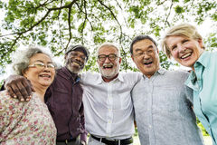 Grupo de reunião superior da discussão da aposentadoria acima do conceito Imagens de Stock Royalty Free