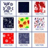 Grupo de revestimentos cerâmicos, de mármore sem emenda coloridos Imagens de Stock Royalty Free