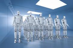 Grupo de robôs fotografia de stock