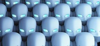 Grupo de robôs, inteligência artificial ilustração do vetor