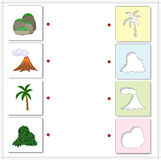 Grupo de rochas cobertas com o musgo, erupção vulcânica, palmeira e Fotos de Stock