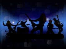 Grupo de rock ilustração do vetor