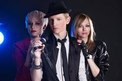 Grupo de rock adolescente Fotografia de Stock