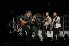 Grupo de rock britânico Coldplay Imagem de Stock