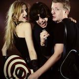 Grupo de rock engraçado Fotografia de Stock