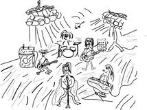Grupo de rock louco Imagem de Stock Royalty Free