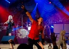 Grupo de rock popular finlandês Lauri Tahka & Elonkerjuu Fotografia de Stock