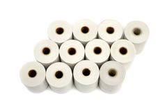 Grupo de rollos de papel Fotos de archivo
