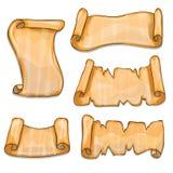 Grupo de rolos de papel velhos Imagem de Stock