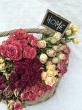 Grupo de rosas secas Fotografia de Stock Royalty Free