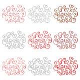 Grupo de rotulação desenhada mão Amor Ilustração do vetor ilustração stock