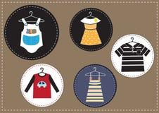 Grupo de roupa das crianças Imagens de Stock