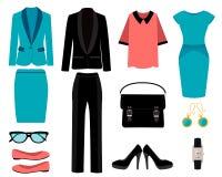 Grupo de roupa do negócio ilustração do vetor