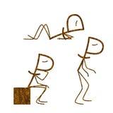 Grupo de rublos oxidados ilustração stock
