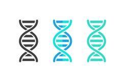 Grupo de símbolo da costa do sumário do ADN ou do cromossoma Ilustração do vetor ilustração royalty free