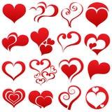 Grupo de símbolo do coração Fotografia de Stock
