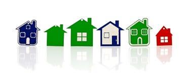 Grupo de símbolo modelo da casa Imagens de Stock