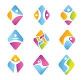 Grupo de símbolos da aptidão do diamante. Fotografia de Stock