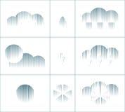 Grupo de símbolos de intervalo mínimo geométrico do tempo ilustração stock