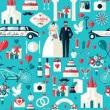 Grupo de símbolos do casamento Fotografia de Stock