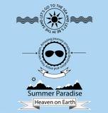 Grupo de símbolos do conceito das férias Foto de Stock Royalty Free