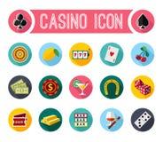 Grupo de símbolos do slot machine do vetor Fotos de Stock
