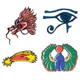 Grupo de símbolos esotéricos Fotos de Stock