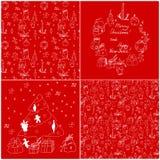 Grupo de símbolos Natal e inverno Fotografia de Stock Royalty Free