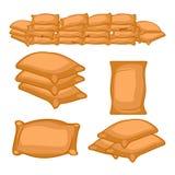Grupo de saco completo dos fazendeiros Ilustração dos desenhos animados do vetor Fotografia de Stock Royalty Free