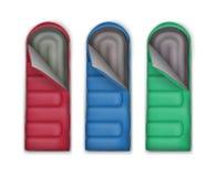Grupo de sacos-cama Imagem de Stock Royalty Free