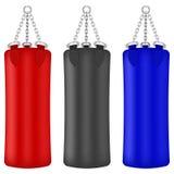 Grupo de sacos coloridos do encaixotamento Fotografia de Stock