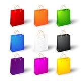 Grupo de sacos de compras Imagem de Stock Royalty Free