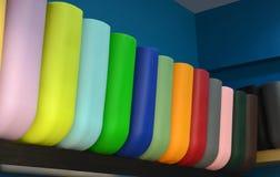 Grupo de sacos de compras coloridos Foto de Stock Royalty Free