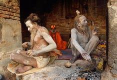 Grupo de Sadhu Babas Fotografia de Stock