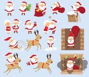 Grupo de Santa Claus ilustração royalty free