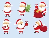 Grupo de Santa Claus ilustração stock