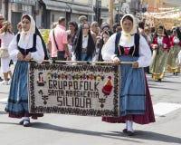Grupo de Santa Margherita dos povos de Siliqua Fotos de Stock