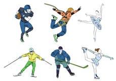 Grupo de seis esportes Fotos de Stock