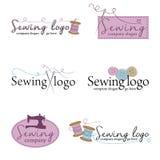 Grupo de seis logotipos costurando ilustração do vetor