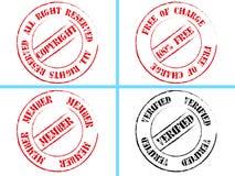 Grupo de selos de negócio Fotografia de Stock