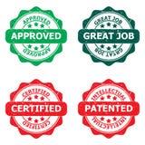 Grupo de selos de negócio Imagens de Stock