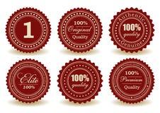 Grupo de selos de qualidade ilustração stock