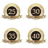 Grupo de selos do aniversário Imagens de Stock